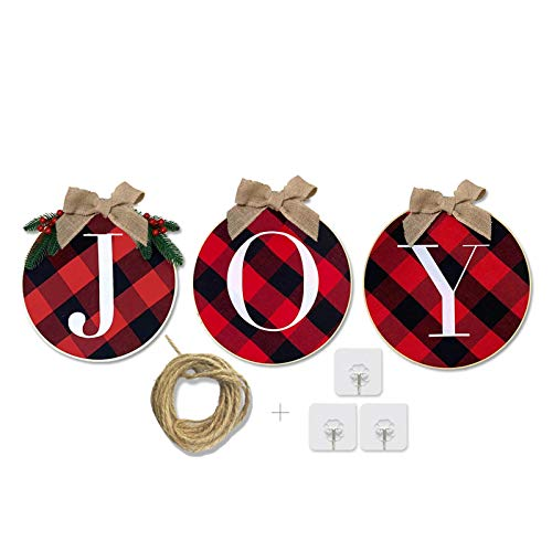 Christmas Decorations for Outdoor Indoor Wall - Christmas Decor for Home, Christmas Wreath, Xmas Decorations, Christmas Signs for Wreaths, Front Door, Windows, Outside, Farmhouse, Porch, Kitchen,Room