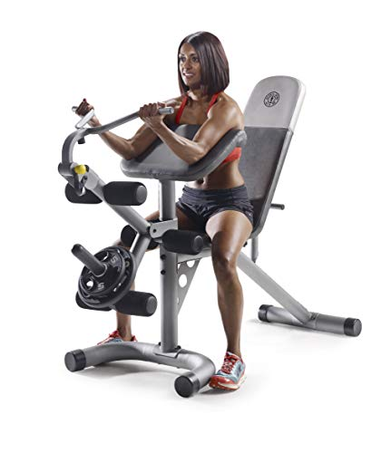 Gold's Gym XRS 20 Olympic Workout Bench with Removable Preacher Pad