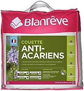 blanrêve Couette Anti-Acariens Très Chaude, Polyester, Blanc, 260 CM x 240 CM