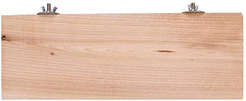 Fdit Holz Haustier Plattform Rechteck Kleine Haustiere Tiere Barsch Brett Papagei Stand Barsch Brett für Tierkäfig Spielzeug Zubehör