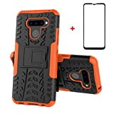 xinyunew LG K50 Case, 360° Full Body PC 2 in 1 [with