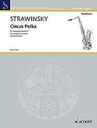 Circus polka saxophone-partition+parties separees