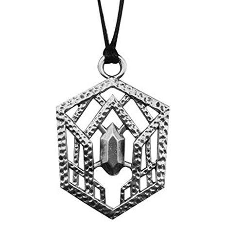 YUNMENG Thorin Oakenshield Collar Tolkien cinturón Hebilla Colgante Amuleto gótico Vintage Antiguo Color Plata joyería Hombres Mujeres