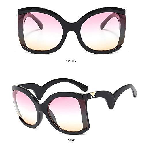 YXFYXF Sonnenbrille-Art- Und Weisedamen-Ultravioletter Beweis Verbogenes GroßEs Feld-VorzüGliche Kunstfertigkeit KüHle Luxuxbrillen-Frauen Streetwear-BrüCke/Reise/Fahren