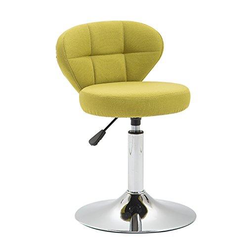 Chaises Chaise pivotante Beauty Roller Stool, hauteur réglable, coton et lin, rotation de 360 degrés, coussin de 10 cm, 4 couleurs -by BOBE SHOP (Couleur : Grass green, taille : 42-56cm)