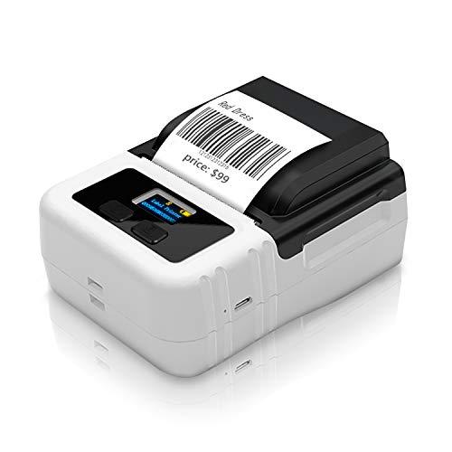 Mini Bluetooth Thermoetikettendrucker,Etikettendrucker tragbare Beschriftungsgerät mit USB-Aufladung, für Barcode-Druck,Etiketten, QR-Code, Barcode, kompatibel mit window7/8/10, Android, iOS