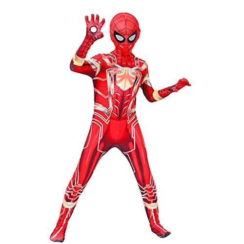 GJZhuan Film Comics Spiderman Costumes Costumes Costumes PS4 Super-héros Fancy Robe Jumpsuit School Halloween Stage De Pâques Afficher Les Performances Body OneiesSuit,Red-Kid/L(120~130CM)