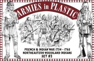 Armies in Plastic 1/32 French & Indian War Northeastern Woodland Indians Set #2 by Armies in Plastic