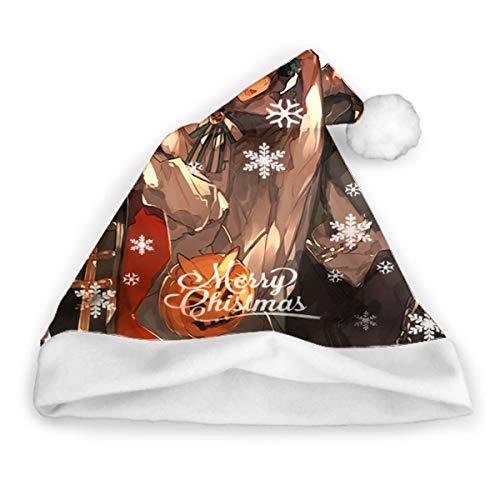 Sdltkhy My Hero Academia () Sombrero de Papá Noel Regalos para Adultos Unisex Navidad Sombrero de Fiesta Divertido Sombreros de Vacaciones