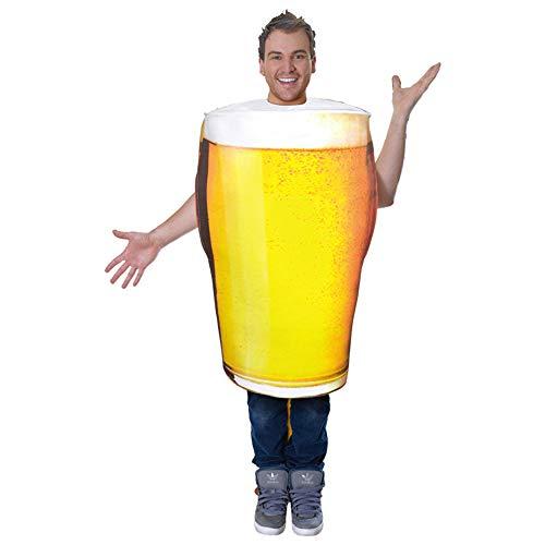 HYQ Halloween Cosplay Bolla Boccale di Birra Costume Adulto di Scena Senza Maniche di Lunghezza Media Beer Pint Costume del Partito Costume di Scena Puntelli