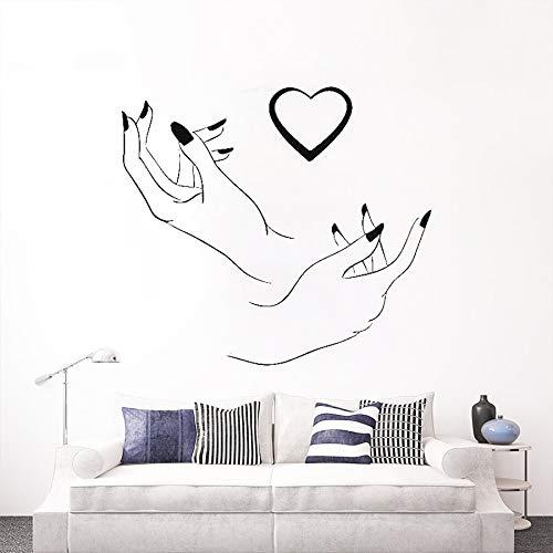 Tianpengyuanshuai Manucure Logo Logo Sticker Mural Pédicure Nail Salon de Beauté Autocollant Décoratif 47X42 cm