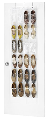 Whitmor Crystal Clear Over The Door Shoe Organizer Clear