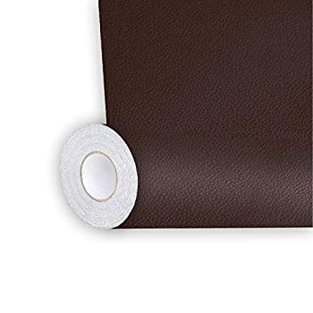 Shagoom Leather Repair Patch Repair Patch Self Adhesive Waterproof DIY Leather Patches for Couches Furniture Kitchen Cabinets Wall  Brown 17X79 inch