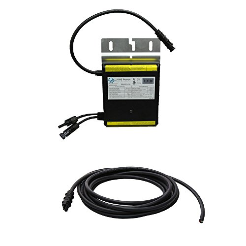 AIMS Power 250 Watt Micro Grid Tie Inverters with Trunk Cables, Easy Installation Connect to 240V Outlet or Panel UL, CEC, CSA Cert