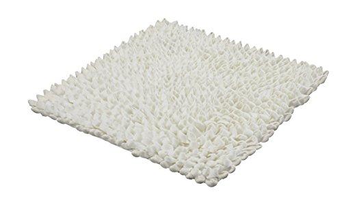 Kleine Wolke Badteppich Falbala, Weiss, 60 x 60 cm