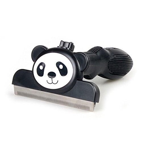 STXMALL Shedding Pflegewerkzeug Hundebürste und Katzenbürste Fellpflege Handschuh Reduziert Haarausfall Fellpflege Werkzeug für Katzen und Hunde Panda M