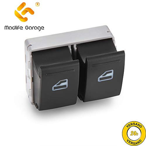 Madlife Garage 7E0959855A Interruptor de elevalunas eléctrico Multivan V Transporter V Bus furgoneta camioneta/chasis