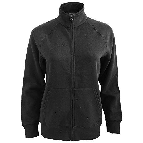 Premium Sweatjacke Lady-Fit - Farbe: Black - Größe: M