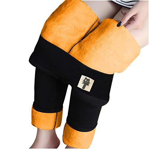 Thermoleggins para mujer de invierno, forrados, térmicos, largos, cintura alta, pantalones de invierno, pantalones de forro polar, pantalones largos para correr
