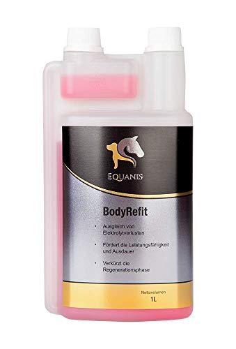 Equanis BodyRefit – El refuerzo electrolítico para caballos para reducir el tiempo de regeneración y para el suministro de electrolitos después de la sudoración.