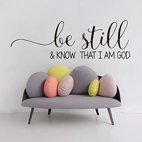 TYLPK Leise wissen, Psalm 46 Bibel Vers zitieren Wall Decal Vinyl schwarz 105cmwidex34cmhigh