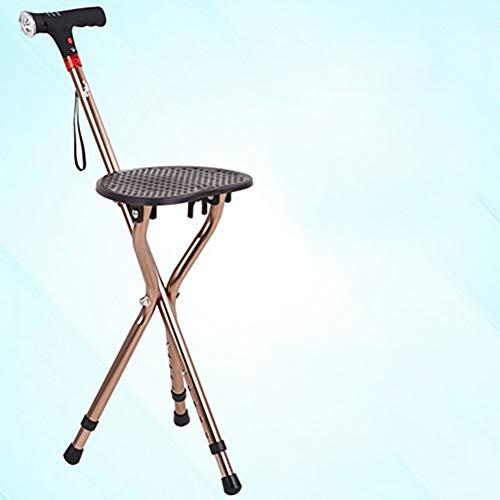 Kruk kruk, valbeveiliging statief, stoel, kruk, multifunctionele hendel, aluminiumlegering, hoogte-, verzamelen voetzool, warm kussen