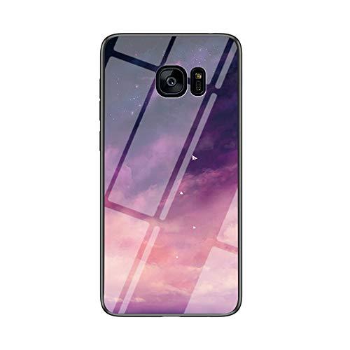 MadBee Cover per Huawei P10 Lite [con Pellicola Proteggi Schermo],Custodia Protettiva in Vetro Temperato 9H [Cielo Stellato] + Cornice Paraurti in Silicone Morbido Cover Case (Stellato Viola)