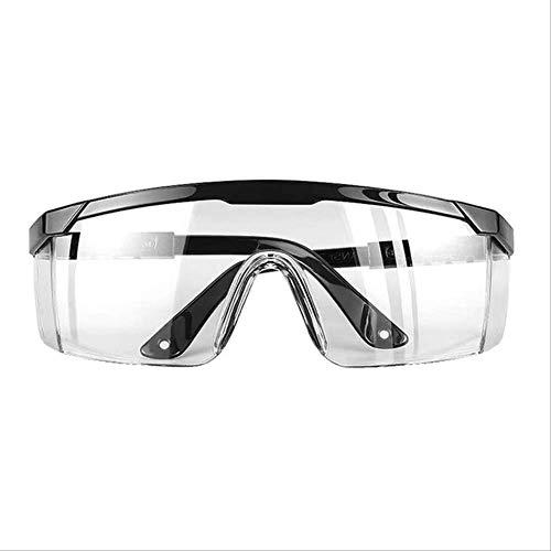 Augenschutz-schutzbrille, Verstellbare Brille, Airsoft Windproof Dust Anti-Fog-spritzschutz Transparente Schutzbrille Schwarz