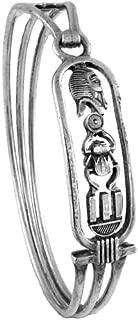 Egyptian Jewelry Silver King Tut Cartouche Bangle