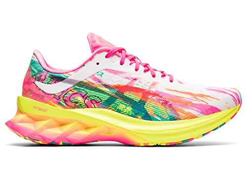 ASICS Women's Novablast Running Shoes, 6.5M, HOT Pink/Sour Yuzu