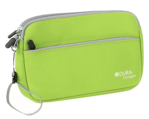 DURAGADGET Funda De Neopreno Verde Lima para Tablet SPC Glow 10, SPC Glee 10.1 Quad Core - con Bolsillo Exterior para Guardar Accesorios