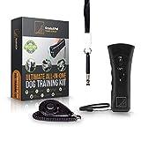 GradeAPet Bark Begone Devices, Ultrasonic Dog Bark Deterrent, Training Kit, 20Ft Range Dog Training Device with Dog Whistle and Dog Clicker Usa Brand