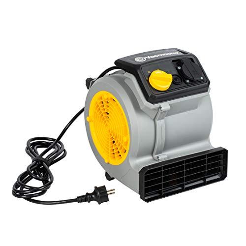 Vacmaster Air Mover Gebläse 124 Watt mit 3 Geschwindigkeitsstufen | Teppich-Trockner Ventilator Leise, Klein und Leicht fur Kühlung, Lüftung, Trocknung und Wasserschadensanierung