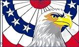 AZ FLAG Flagge AMERIKANISCHER PATRIOTISCHER Adler 150x90cm - VEREINIGTEN Staaten Fahne 90 x 150 cm - flaggen Top Qualität
