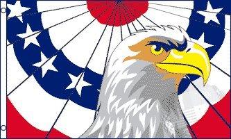 AZ FLAG Drapeau Aigle Patriotique américain 150x90cm - Drapeau USA - Etats-Unis 90 x 150 cm - Drapeaux