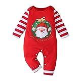 YONSIN Neugeborenes Baby Strampler Overall Winter wärmer Schneeanzug für Jungen Mädchen Weihnachten Lange Ärmel Baby Baby für Jungen Mädchen