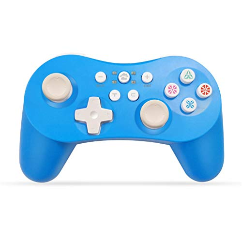 FENG PC Gamepad, Wireless Controller, Gaming Controller, Dual Shock, Wireless Gamepad für PS3 / Android Handy/Tablet/PC (Blau)