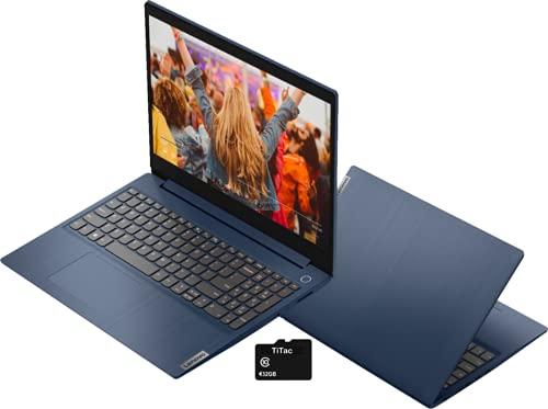 2021 Lenovo IdeaPad 3 15.6″ HD Touch Screen Laptop, Intel Dual-Core i3-10110U Up to 4.1GHz, 12GB DDR4 RAM, 512GB PCI-e SSD, Webcam, WiFi 5, HDMI, Bluetooth, Windows 10 S – Abyss Blue + TiTac Card