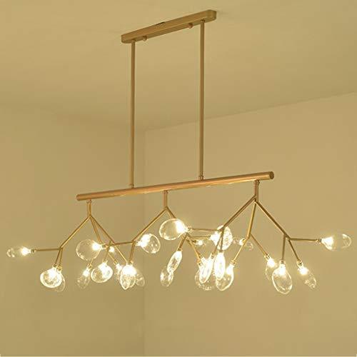 ZQH Modern Firefly Kroonluchter, LED Strip Plafond Hanger Licht Creatieve Gypsophila Hanglamp Art Deco voor Restaurant Keuken Eiland Woonkamer Cafe