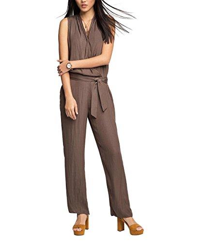 ESPRIT Collection Damen 056EO1L001-luftig lockerer Fall Jumpsuits, Braun (TAUPE 240), W27/L32 (Herstellergröße: 36)