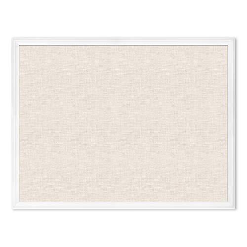 U Brands Linen Cork Linen Bulletin Board, 30 x 40 Inches, White Wood Frame (2917U00-01) -  U Brands, LLC