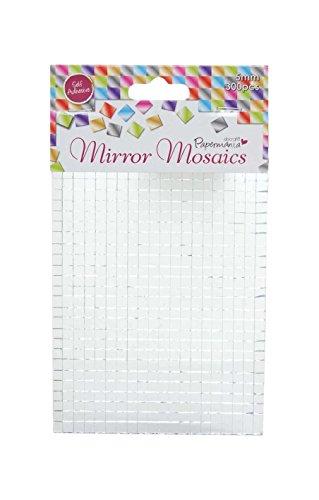 Docrafts 5 mm zelfklevende spiegel mozaïeken, zilver (pak van 600)
