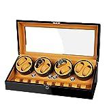 LSRRYD Cajas Giratorias Relojes Automático 8+9 Caja Enrollador Reloj con Motor Silencioso Caja Relojes Mecánicos Caja Bobinadora (Color : A, Size : 8+9)