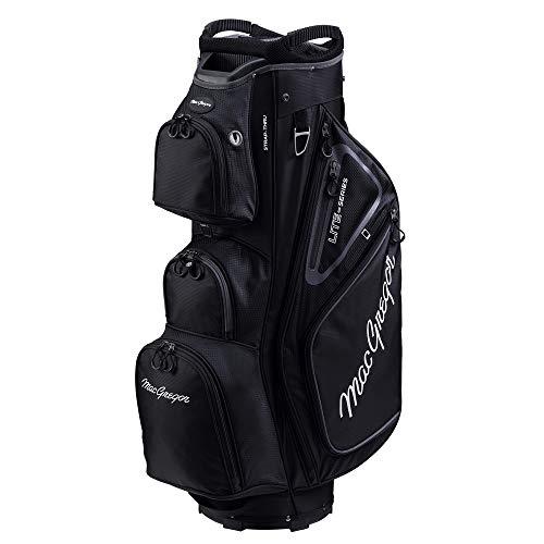 MacGregor Golf VIP Deluxe 14-Way Cart Bag, 9.5' Top- Black/Black