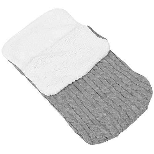 NUOBESTY Manta para bebé con forro polar y tejido de felpa para bebé, accesorio para regalo de recién nacido, color gris