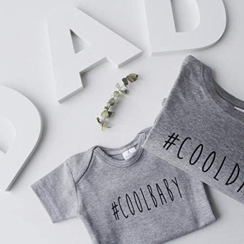 Regalo para padres y bebés - Pack regalo camiseta y body 100% algodón