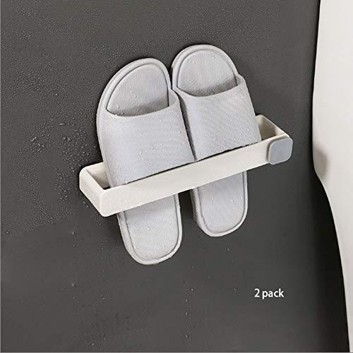 Artículos para el hogar, Zapatero Organizador Cuarto de baño Estante para zapatos montado en la pared Estante para almacenamiento de zapatos para el hogar Estante para almacenamiento de toallas de ba