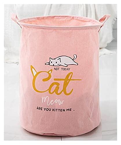 Mjwlgs Cesto para Colada Dibujos Animados de Gato Serie Plegable Impermeable lavandería Cesta Ropa de Almacenamiento cestas decoración de hogar Almacenamiento Barril niños Juguete Organizador