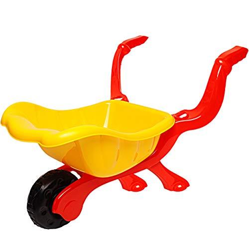 alles-meine.de GmbH kleine Kinder _ Kunststoff Schubkarre - GELB - ab 1 Jahr - extrem stabil - mit Plastik Reifen & Kunststoffwanne - Kinderschubkarre - Gartenschubkarre - Sandsp..