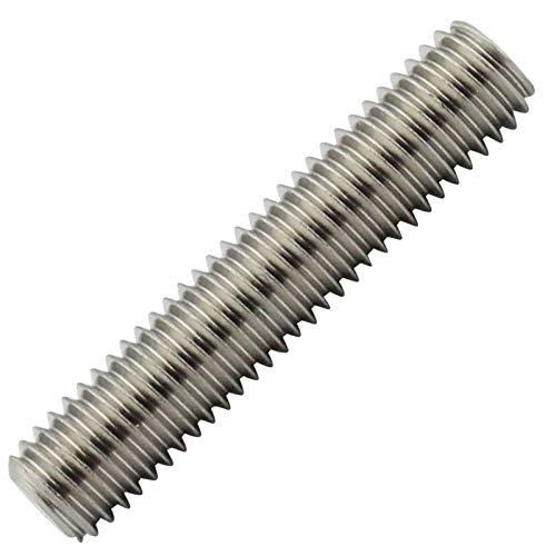 D2D   VPE: 10 Stück - Gewindestifte - Größe: M6 x 50 mm - nach DIN 913 mit Innensechskant (ISK) und Kegelkuppe aus Edelstahl A2 / V2A - Madenschrauben